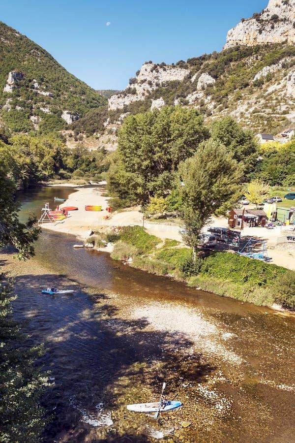 Canoeing центр в Madele стоковое фото rf