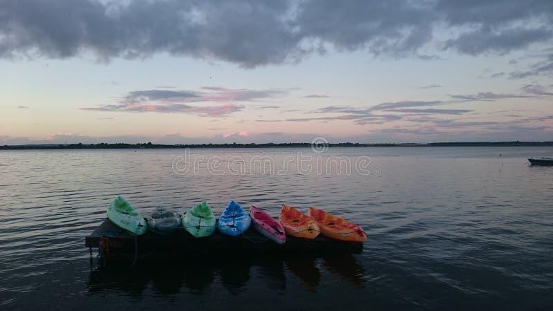Canoeing стоковые изображения