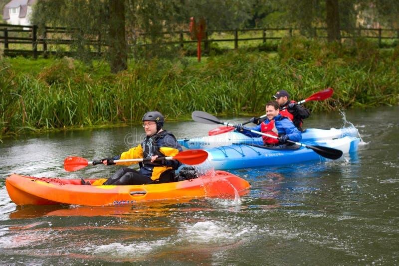 Canoeing fotografie stock libere da diritti