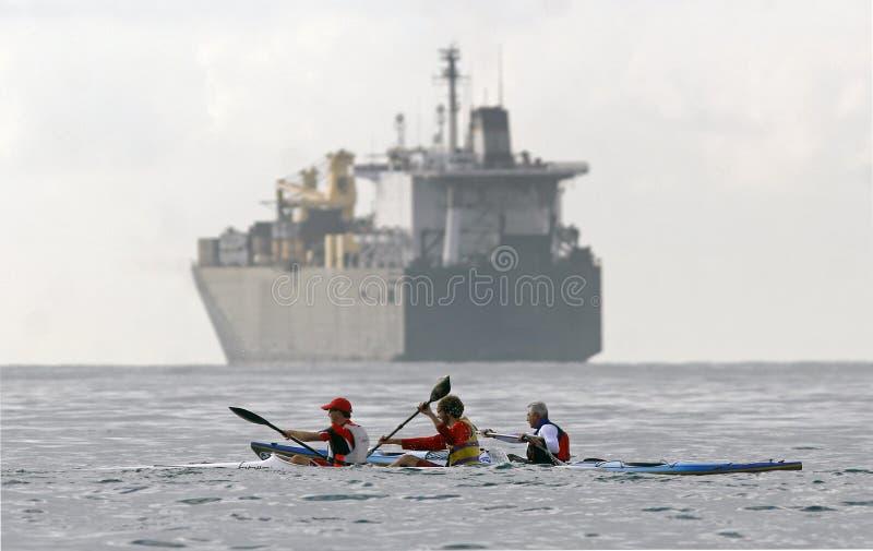 028 Canoeing imagenes de archivo