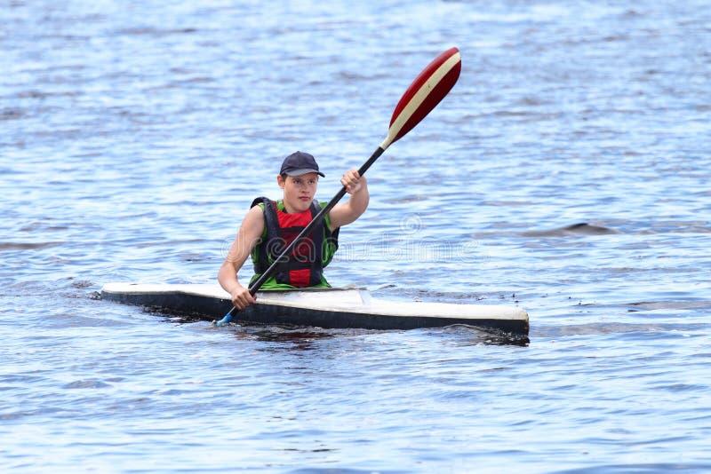 Canoeing royalty free stock image