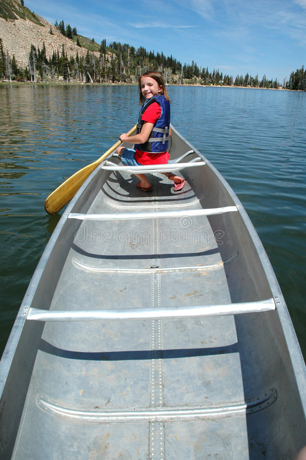 Canoeing At The Lake Stock Photography