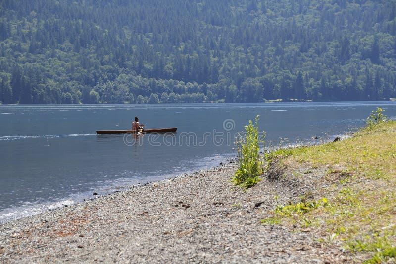 canoeist photographie stock libre de droits
