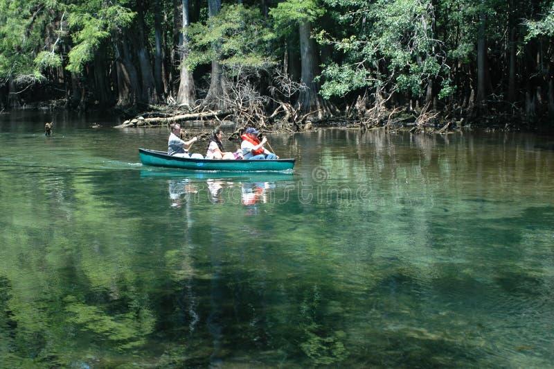 Canoeists_Manatee photos libres de droits