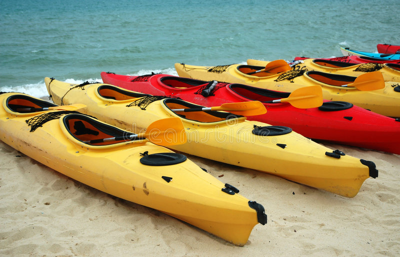 Download Canoes stock photo. Image of boat, leisure, paddle, yellow - 108258