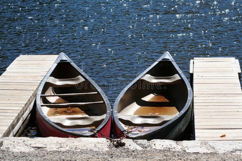 Canoes royalty free stock photo
