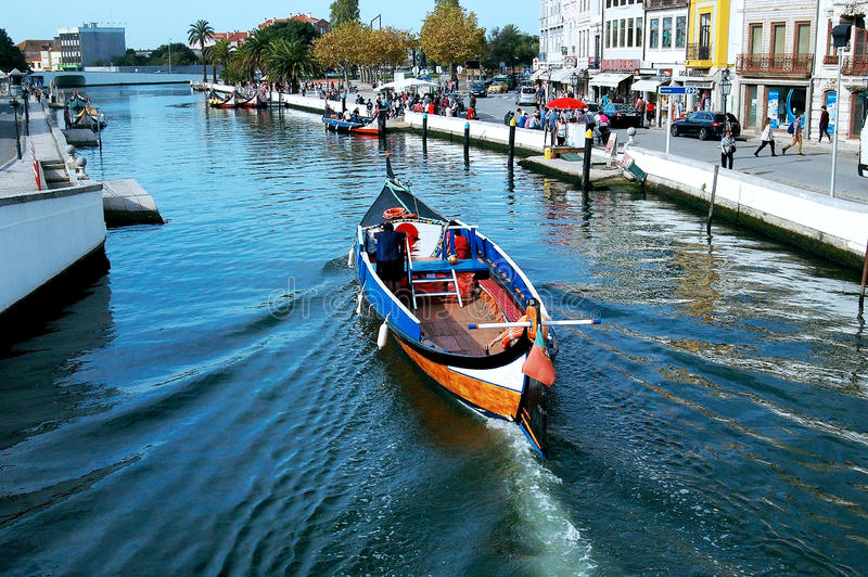 Canoes in Aveiro, Portugal. Europe royalty free stock image