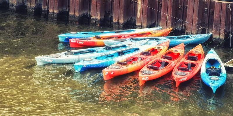 Canoes stock photos