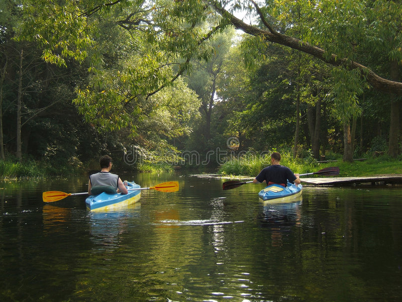 Canoing royalty free stock image