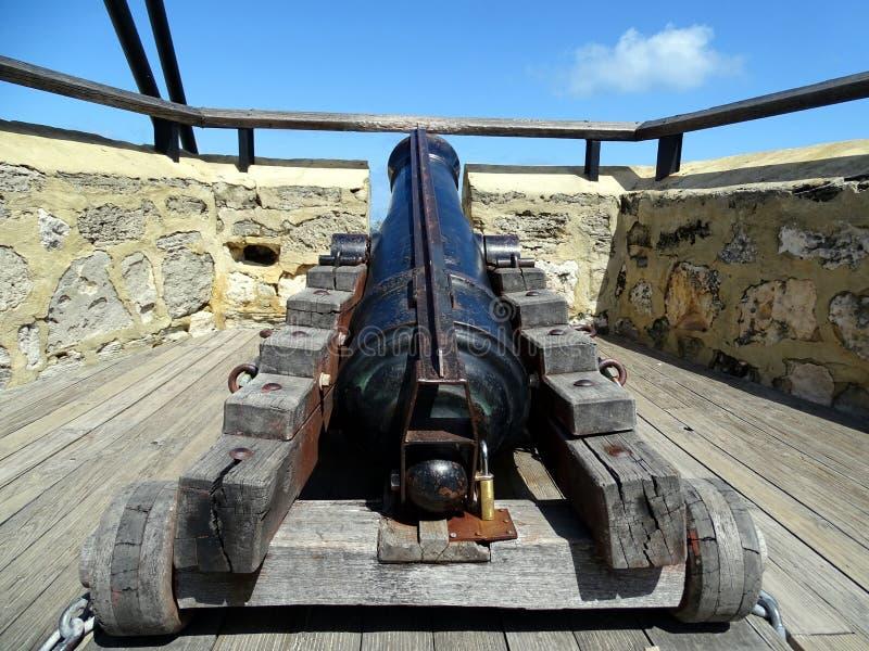 Canon antique employé au début du 19ème siècle pour défendre Fremantle images libres de droits