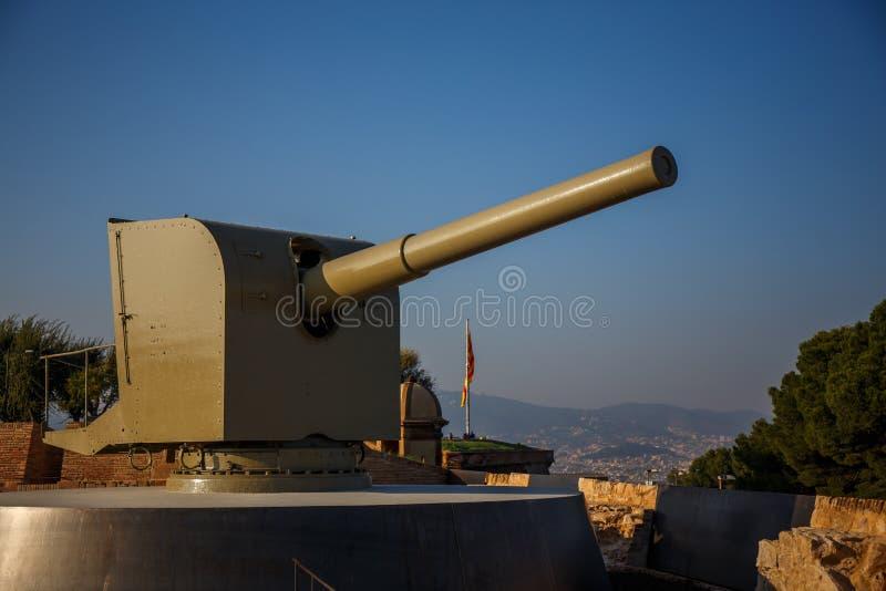 Canon in Barcelona stockfotos
