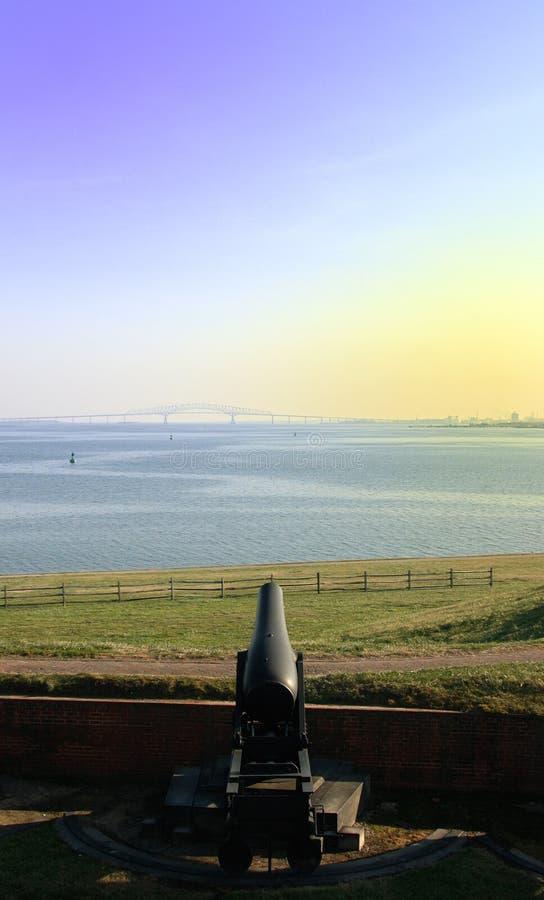 Canon bij Fort McHenry royalty-vrije stock fotografie