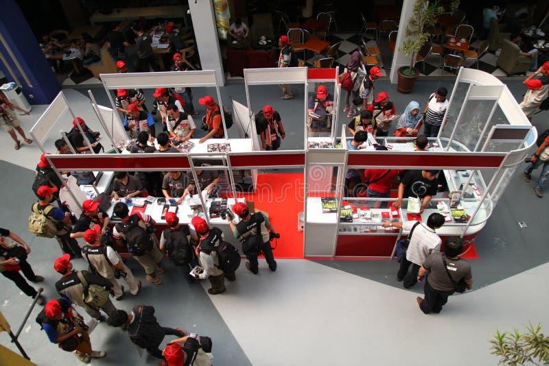 Canon budka w Cilandak rynku Dżakarta zdjęcia stock