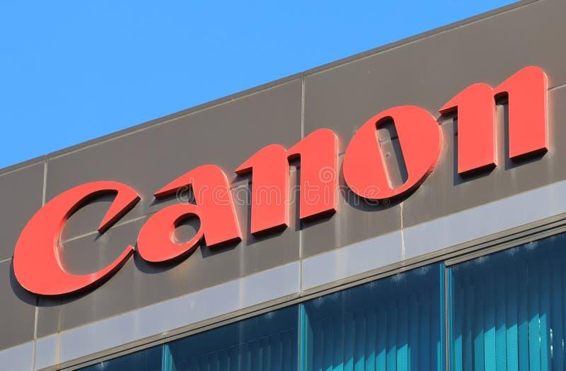 Canon camera Japan company logo stock image