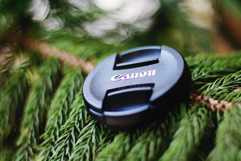 Canon Camera Lens Cover stock photo