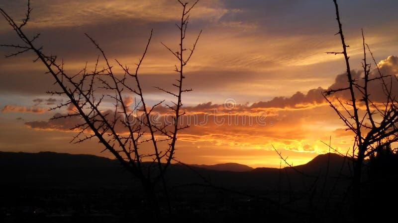 Canon city solrise arkivfoton