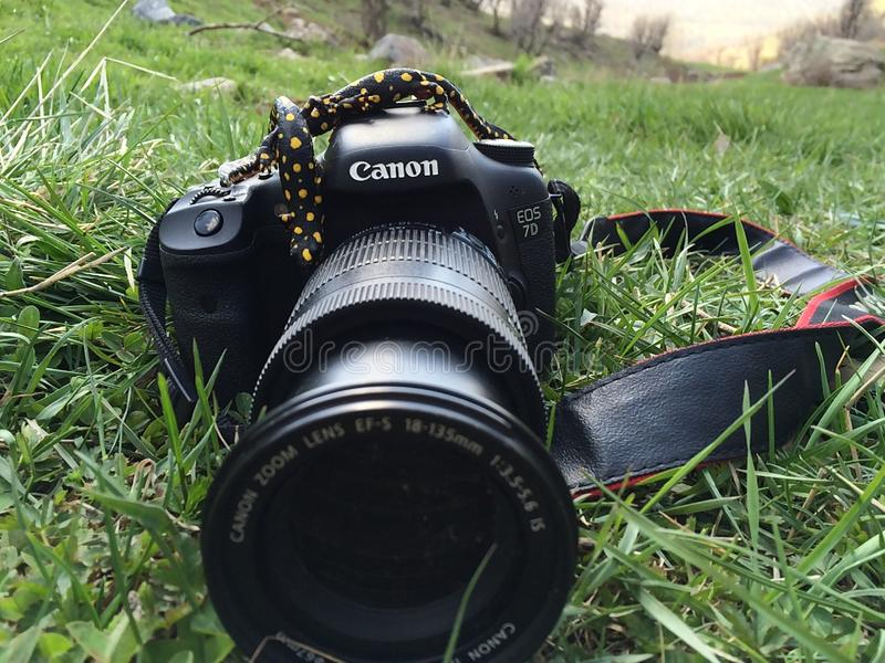 Canon 7D digital camera 18-135 lense stock photo