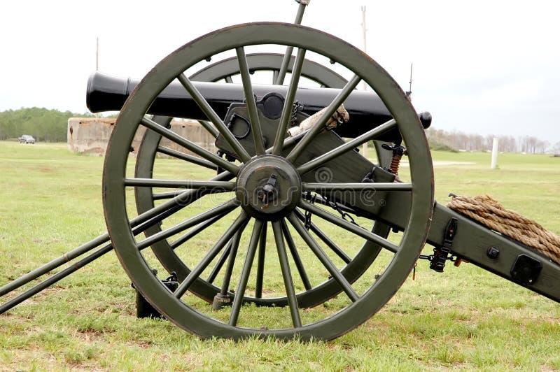 Canon de guerre civile image stock