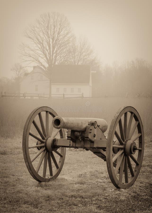 Canon de guerre civile photo libre de droits