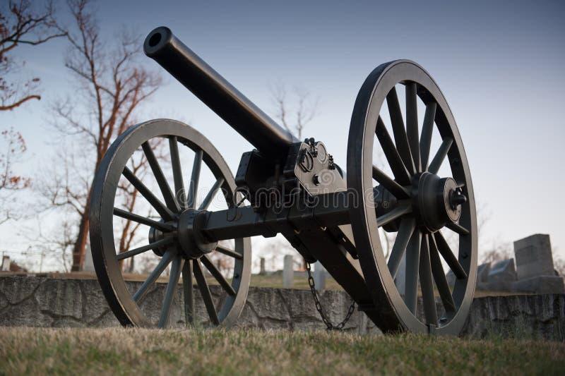 Canon de guerre civile des USA photo stock