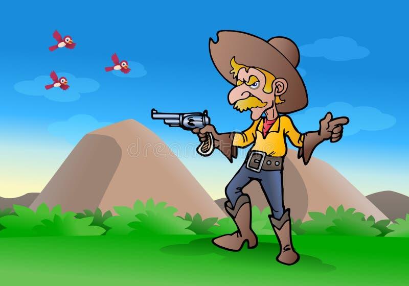Canon De Prise De Cowboy Images libres de droits