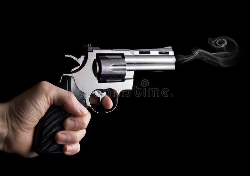 Canon de revolver disponible photo libre de droits