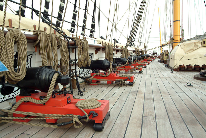 Canon de vieux bateau photographie stock libre de droits