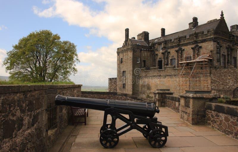 Canon del castillo de Stirling fotos de archivo libres de regalías