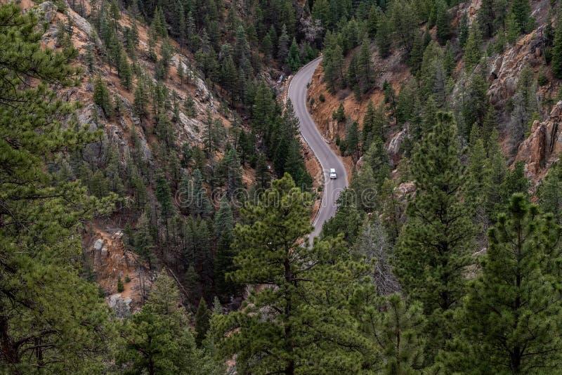 Canon del norte Colorado Springs del barranco de Cheyenne fotos de archivo libres de regalías