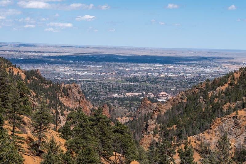 Canon del norte Colorado Springs del barranco de Cheyenne foto de archivo libre de regalías