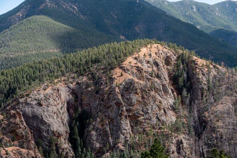 Canon del norte Colorado Springs del barranco de Cheyenne imagen de archivo libre de regalías