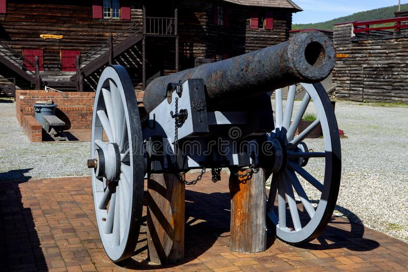 The mighty canon at the fort stock photos