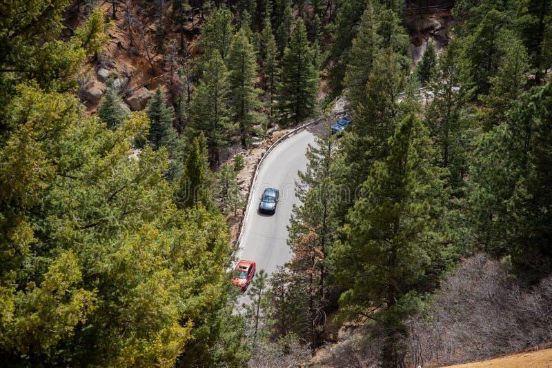 Canon du nord Colorado Springs de canyon de Cheyenne photographie stock libre de droits