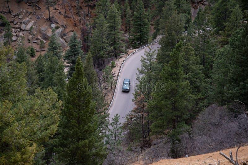 Canon du nord Colorado Springs de canyon de Cheyenne photos libres de droits