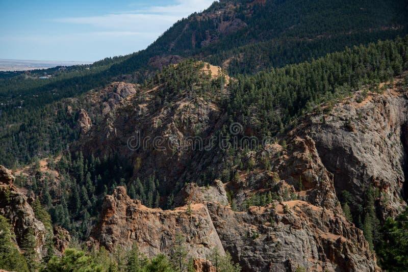 Canon du nord Colorado Springs de canyon de Cheyenne images libres de droits