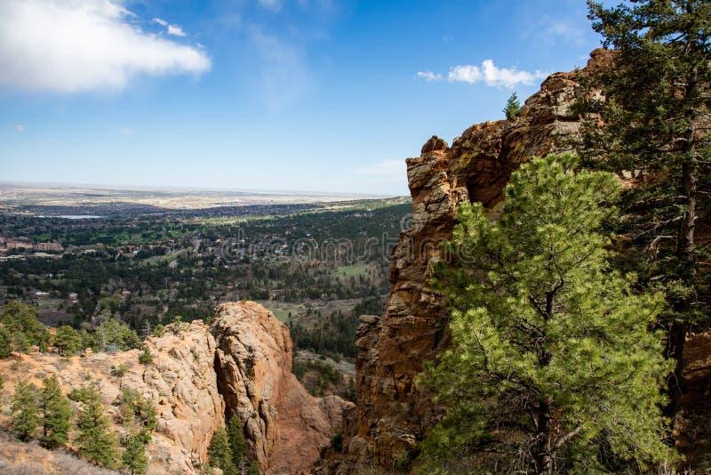 Canon du nord Colorado Springs de canyon de Cheyenne photos stock