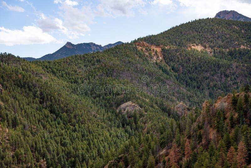 Canon du nord Colorado Springs de canyon de Cheyenne photo stock