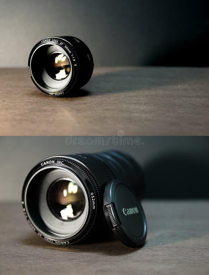 Canon EF 50mm f/1 8 II zdjęcia stock