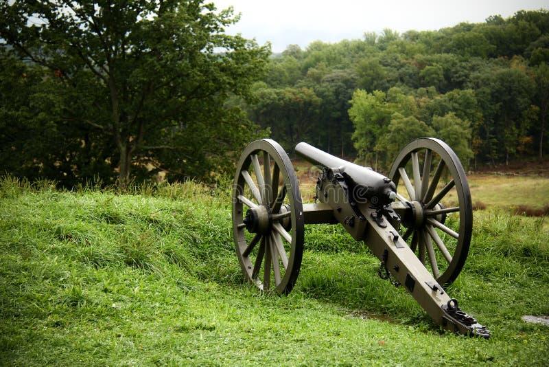 Canon em Gettysburg imagens de stock royalty free