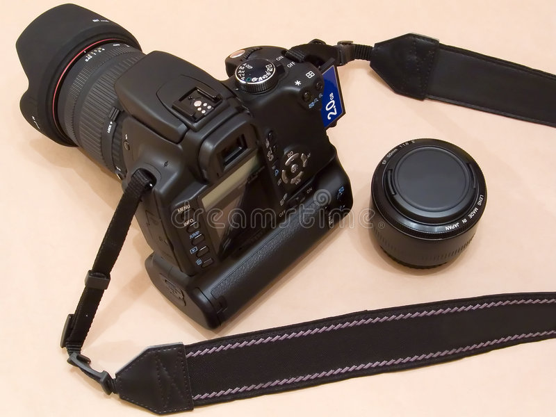 Canon EOS 350D Digital Rebel dSLR camera (unbranded) royalty free stock photo