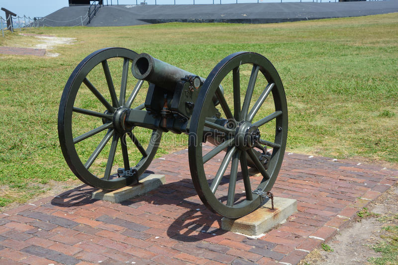 Canon Fort Sumter royalty free stock photos