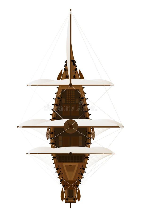 Canon frigate. Design illustration of a canon frigate royalty free illustration