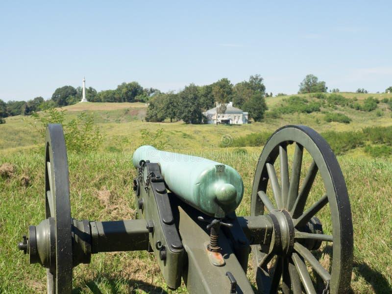 Canon Gestreefde Belegering van Vicksburg de Mississippi royalty-vrije stock afbeeldingen