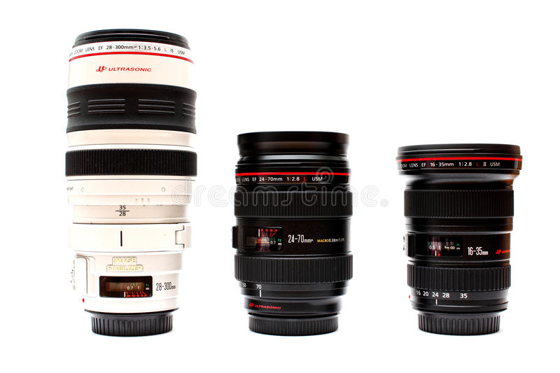 Canon L series lenses royalty free stock photography