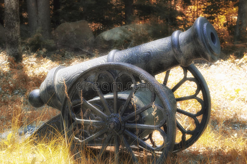 Canon. An old Victorian period canon royalty free stock photography