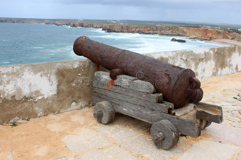 Canon and Rocky Algarve, Portugal coastline royalty free stock image