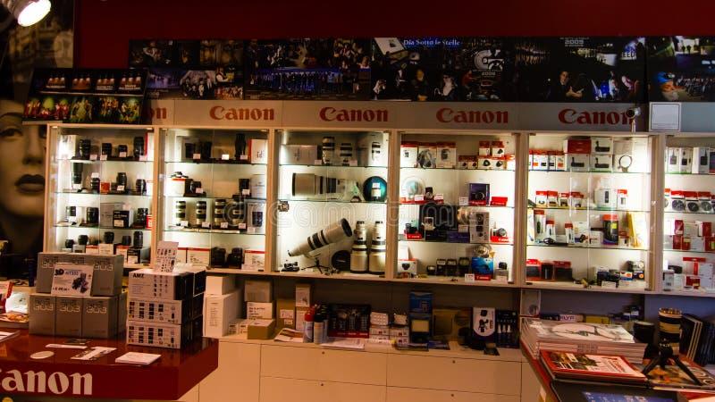 Canon store stock photo