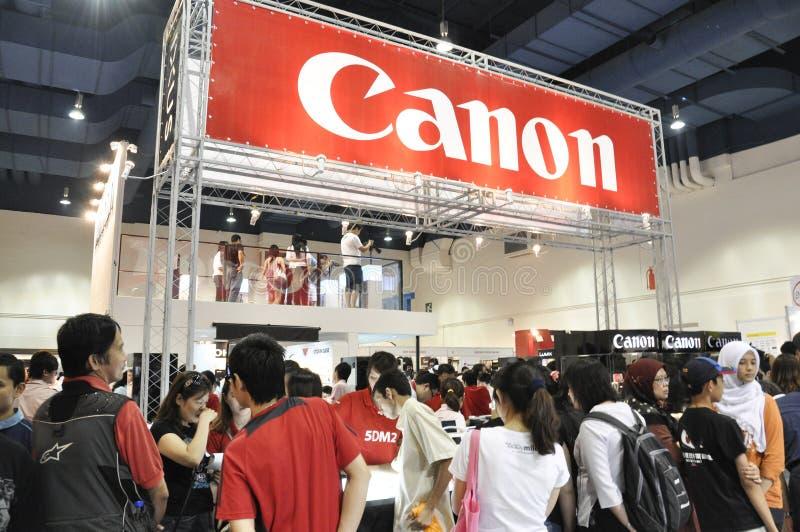 Canon-Stand an KLPF 2009 stockfotografie
