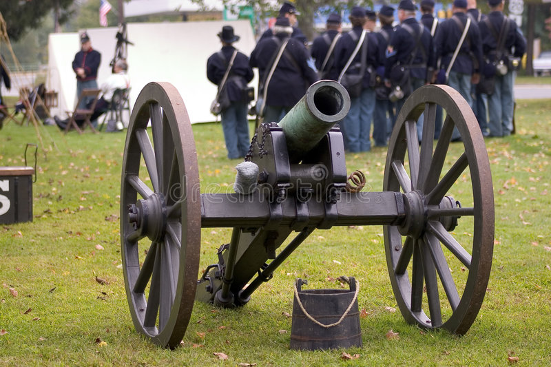 Canon - Union Soldiers Stock Photo