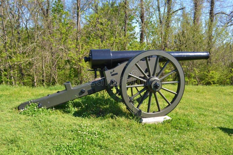 Canon Vicksburg de guerre civile photo stock
